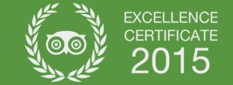 Tripadvisor Excellence Certificate 2015 Castello Lake Front Hotel